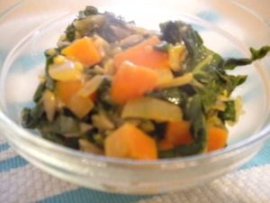 Savory Spinach & Sweet Potato Saute